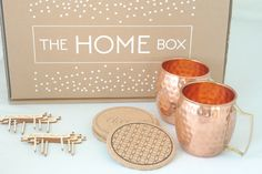 The Home Box Is A Decor Monthly Subscription Join Fun Thehomebox Octoberbox Coppermugs Coasters Cupcaketoppers Fall Hythanksgiving