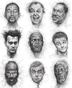 Ballpoint pen drawing by Vince Low