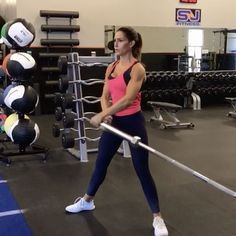 Landmine BURN 12 reps of each! (Make sure you switch sides) 10 reps each on each side 15 reps each side 12 reps each side… Weight Loss Chart, Best Weight Loss, Losing Weight Tips, Weight Loss Tips, Clarks, Alexia Clark, Bar Workout, Workout Plans, Muscle Building Workouts