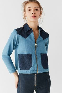 Shop Lykke Wullf Two-Tone Denim Ranch Jacket at Urban Outfitters today. We carry all the latest styles, colors and brands for you to choose from right here.
