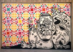 Ruben Sanchez  bringing graffiti art to the streets of the Middle East.