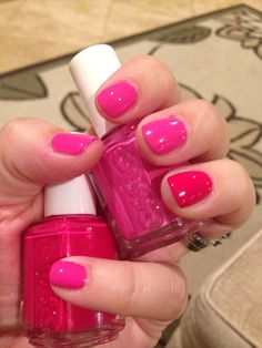 My Nails: Watermelon & Mod Square by Essie