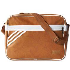 56b422dd88 ADIDAS ORIGINALS AIRLINER Suede BAG-MESSENGER Shoulder Bag Brown Cognac