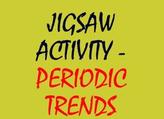 great periodic trends jig saw activity