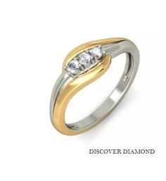 1.20 Ct THREE STONE ROUNDS SOLITAIRE SOLID 14 K WHITE GOLD ENGAGEMENT RING S18 #DiscoverDiamond #THREESTONECOLLETSOLITAIRE