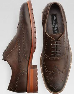 90930d2aab00 Marco Vittorio Ancona Brown Wingtips - Casual Shoes