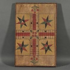 Paint-decorated Parcheesi Game Board Game Board