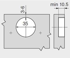 Balamale uși aplicate Blum Modulo - dimensiuni si cote gaurire oala Floor Plans, Diagram, Floor Plan Drawing, House Floor Plans