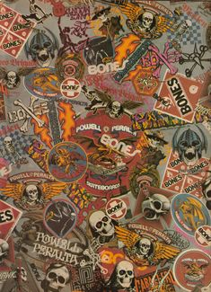 Powell Peralta vintage stickers pins and posters