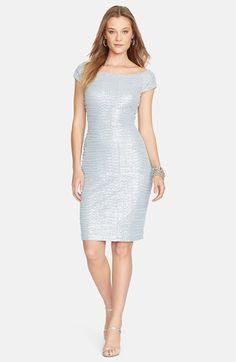 Lauren Ralph Lauren Sequin Mesh Ruched Sheath Dress (Regular &  Petite) available at #Nordstrom