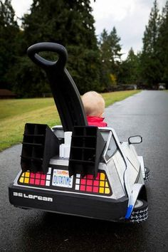Back To The Future Halloween costume. (Really need to consider a costume incorporating our wagon!)