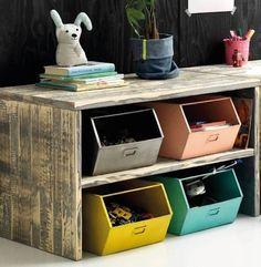 pokój dziecięcy w stylu montessori-pojemniki na zabawki i dziecięce akcesoria