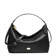 EAST/WEST CELESTE CONVERTIBLE HOBO IN PEBBLE LEATHER
