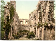 Lady Chapel at Glastonbury Abbey - Catholic Benedictine Abbey suppressed during the reformation. Photo circa 1900.