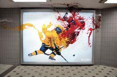 Creative Outdoor Ad Alcro: Colour Tackle