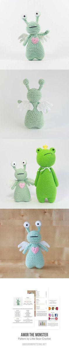 Valentine crochet idea: Amor The Monster Amigurumi Pattern