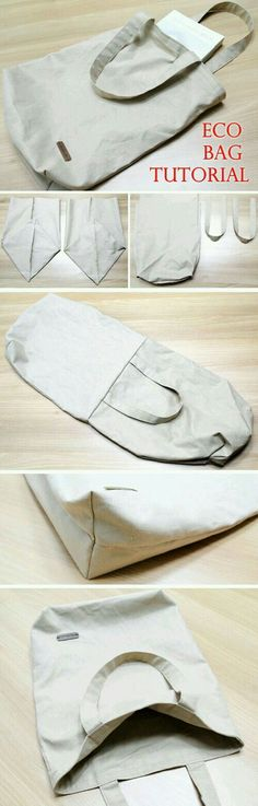 Eco-friendly Shopping Bag Tutorial Canvas Tote Shopping Eco Bag DIY Step by Step Photo Tutorial.Canvas Tote Shopping Eco Bag DIY Step by Step Photo Tutorial. Sacs Tote Bags, Canvas Tote Bags, Diy Tote Bag, Diy Pouch Bag, Canvas Handbags, Diy Sac, Diy Couture, Bag Patterns To Sew, Tote Pattern