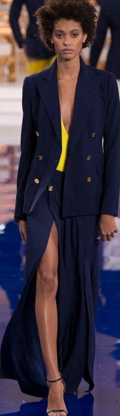 Midnight Blue, Catwalk, Ralph Lauren, Couture, Formal, Spring, Hot, Beauty, Fancy