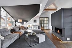 This home is located in Austria s countryside We chose an industrial chic style while keeping the house cozy for it s four inhabitants Industrial Chic Style, Royal Brides, Queen Mother, Interior Design Studio, Timeless Beauty, Luxury Living, Art Deco Fashion, Countryside, Living Room