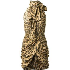 Balmain Leopard Printed Silk Dress ($3,035) ❤ liked on Polyvore featuring dresses, vestidos, balmain, robe, leopard print cocktail dress, brown dress, leopard print dress, draped dress and brown silk dress