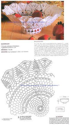 рукоделие,вязание крючком,вязаный декор,Hand Made idea,Hand Made Decor, crafts,crochet,crochet decoration Free Crochet Doily Patterns, Crochet Motif, Crochet Designs, Crochet Doilies, Filet Crochet, Crochet Bowl, Thread Crochet, Crochet Decoration, Crochet Tablecloth