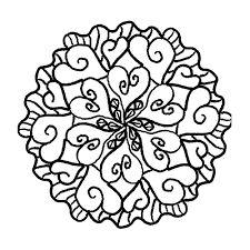 Znalezione obrazy dla zapytania mandale wzory do druku