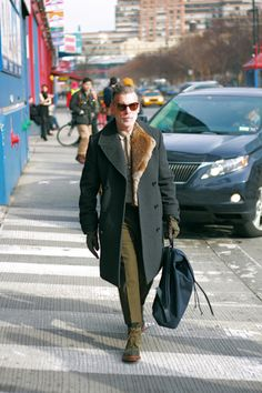 6b38ceb686d Nick Wooster wearing The Coat Brooklyn Street Style, Nick Wooster, Mens Fur,  Fur