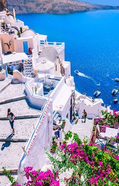 Santorini, Greece Editorial Director: Theodoros Balopoulos by Brittany Hayes Vacation Places, Vacation Destinations, Dream Vacations, Vacation Spots, Places To Travel, Places To Go, Beautiful Places To Visit, Wonderful Places, Places Around The World