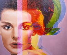 """""""Spectrum"""" by Richard Phillips painting. Hung in Lily Bass' house on Gossip Girl."""