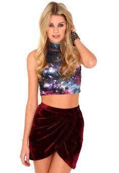 64a3f8ad34684 Faiga Galaxy Crop Top In Purple Crop Top Outfits