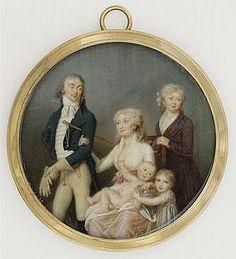 """SOYER Jean-Baptiste """"Family Portrait"""" Paris, Louvre"""
