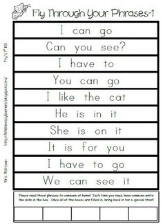 Little Literacy Learners: Get Together and Phrase FREEBIE Reading strips for circle. Use words we are learning each week Reading Fluency, Reading Intervention, Teaching Reading, Guided Reading, Early Reading, English Reading, Reading Skills, Kindergarten Language Arts, Kindergarten Literacy