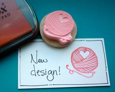 Yarn Love Hand Carved Rubber Stamp by hoffeeandanuffin on Etsy