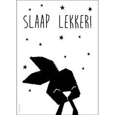 Poster Konijn zwart-wit A4 Studio Circus www.HippeKidsKamer.nl