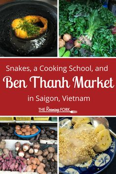 Ben Thanh Market – guided tour by the Vietnam Cookery Centre and Snake-head fish soup and caramel snake-head fish in clay pot in Saigon, Vietnam.