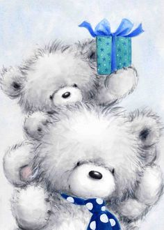 Teddy Bear Images, Teddy Bear Pictures, My Teddy Bear, Cute Teddy Bears, Cute Animals Images, Cute Animal Pictures, Print Pictures, Happy Birthday Animals, Baby Painting