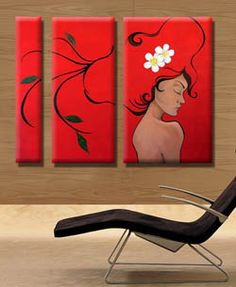 Modern Oil Painting, Diy Painting, Easy Flower Drawings, 3 Piece Art, Art Drawings Beautiful, Diy Canvas Art, Wall Art Pictures, Painting Techniques, Love Art