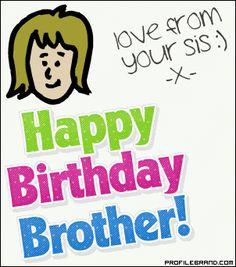 Happy Birthday Brother Animated Scrap 400x300