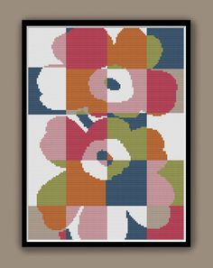 FLOWER POWER Modern Counted Cross Stitch Pattern pdf | Etsy