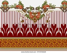 Textile Prints, Textile Design, Textiles, Native American Patterns, Gold Stock, Gold Ornaments, Design Seeds, Botanical Flowers, Flower Frame