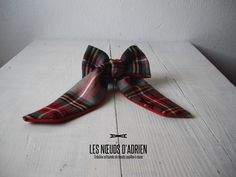 NUTK Collection 2016 Odyssée Noeud papillon lavallière réversible :  • Sergé laine/polyester écossais • Sergé laine rouge