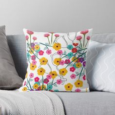 'excellent floral work ' Throw Pillow by Scatter Cushions, Throw Pillows, Pattern Design, Floral Design, My Arts, Tropical, Art Prints, Printed, Awesome