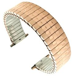 Hadley Roma MB7344R 16-22mm Rose Gold Tone Tapered Straight Men Expansion Watch Band. Color: Rose Gold. Band Width: 16-22mm (adjustable). Length: 6.25 inches stretches up to 8 inches (regular). Straight Ends.