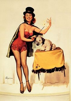 Gil Elvgren - It's Easy 1955 ❥|Mz. Manerz: Being well dressed is a beautiful form of confidence, happiness & politeness