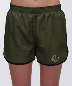 Army Green Running Shorts by Swirlgear #zulily #zulilyfinds
