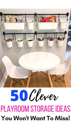 Mommy Experts Share 50 Playroom Ideas That Will Turn Your Child's Messy Play Space Into An Organized and Safe Play Haven For Kids. Small Playroom designs too. Playroom Organization is key! Playroom Table, Small Playroom, Toddler Playroom, Playroom Furniture, Playroom Design, Kids Room Design, Playroom Decor, Cheap Playroom Ideas, Small Kids Playrooms