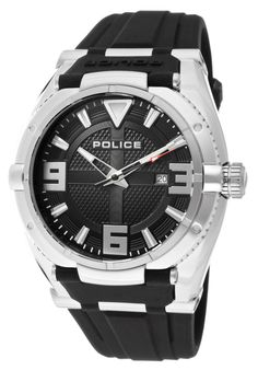 Price:$99.00 #watches Police 13093JS-02, This Police timepiece is uniquely known for it's classy and sporty look. It's accentuated design has made it one of the best sellers year after year.
