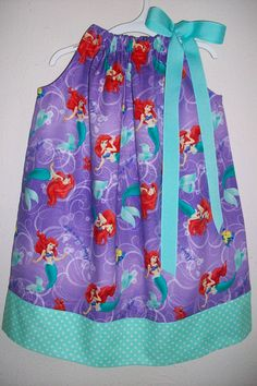 Pillowcase Dress Little Mermaid Dress with by lilsweetieboutique