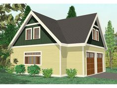 Garage garage addition and craftsman home plans on pinterest for Detached room addition