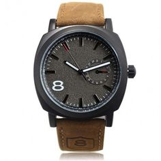 Army Military Style Men's Watches Leather Strap Quartz Watch Wrist Watch